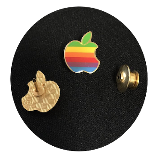 Apple Computer Rainbow Logo Lapel Pin