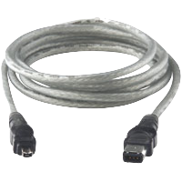 Cable, FireWire, 4-Pin to 6-Pin, 2m