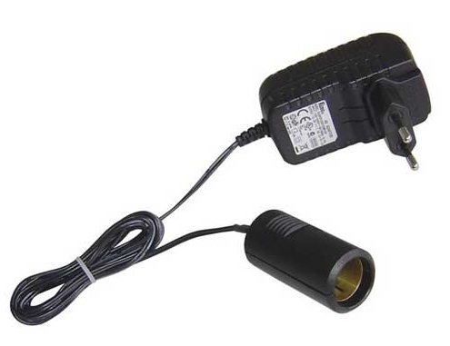 Adapter, 220V - 12V Cigarette lighter receptacle