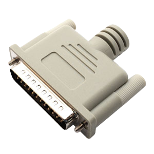 Loopback Plug, Parallel 25 pin male plug (DB-25)