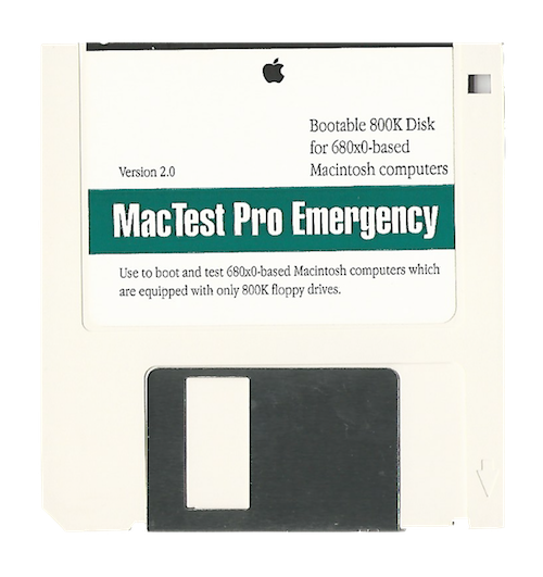 MacTest Pro Emergency, 800K, 680x0 Version 2.0