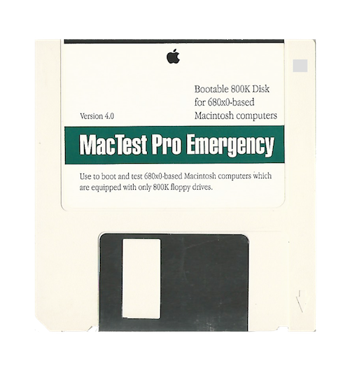 MacTest Pro Emergency, 800K, 680x0 Version 4.0