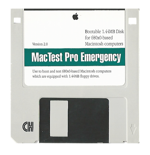 MacTest Pro Emergency, 680x0 Macintosh, 1.44MB Version 2.0